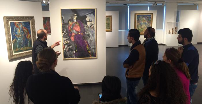 Students from the Tour Guide Program Visit Exclusive Art Exhibition