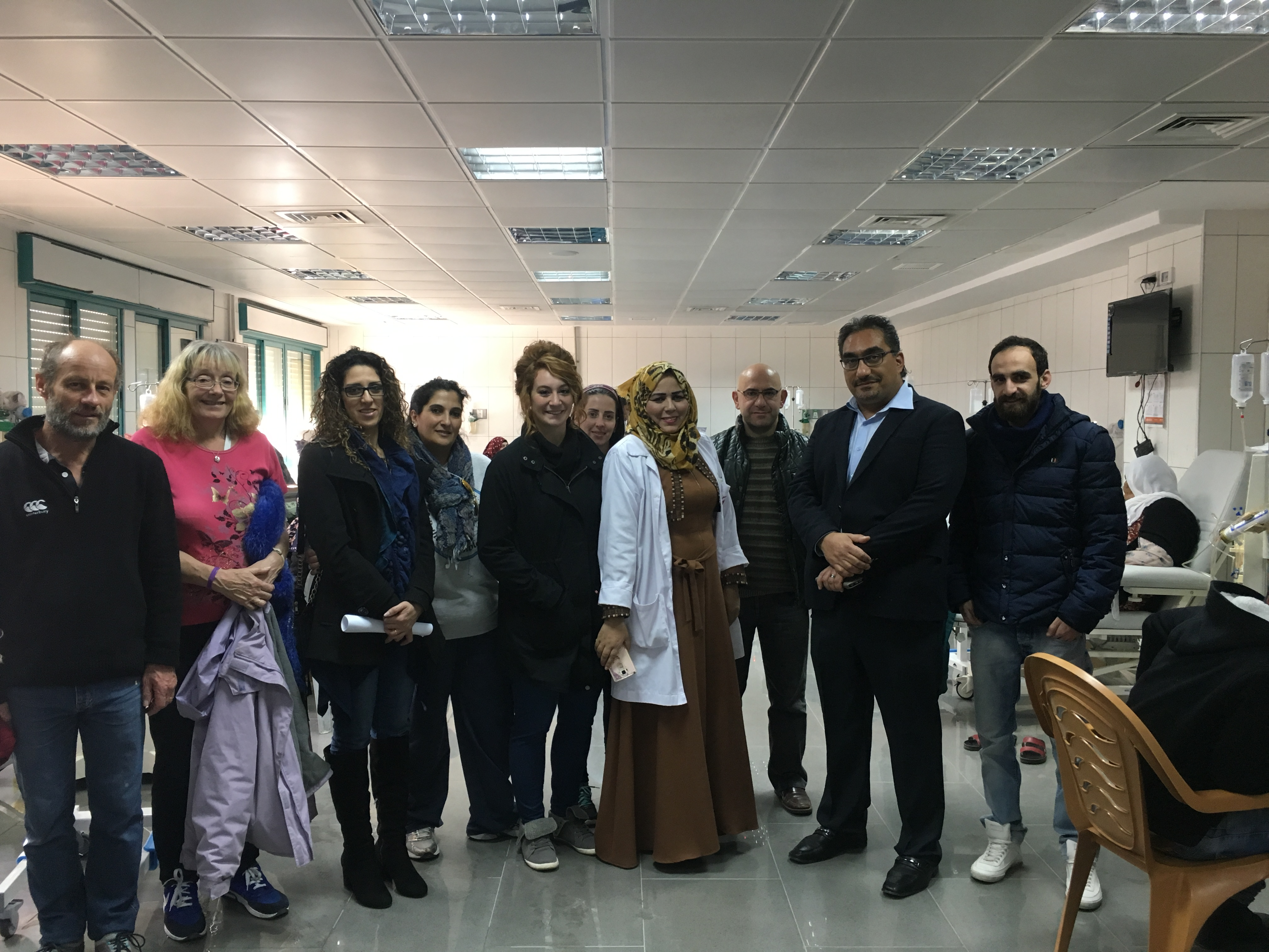 BBC Staff Visits Dialysis Patients in Bethlehem